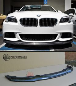 10-12 BMW F10 5 Series Carbon Fiber Front Lip - MSPORT only