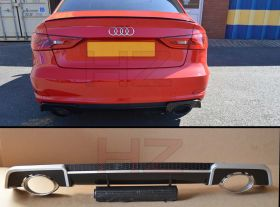 RS3 LOOK REAR DIFFUSER FOR 2013 2015 Audi A3 8V 4DR SALOON