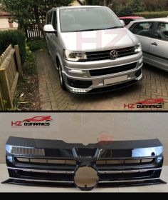 GLOSS BLACK SPORT GRILL FOR VW TRANSPORTER T5 FACELIFT 2010 2015