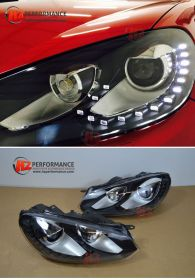 VW Golf MK6 R20 Type LED Headlights with HID KIT