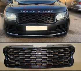 2018 LOOK GLOSS BLACK GRILL GRILLE FOR RANGE ROVER VOGUE 2013 TO 2017 L405