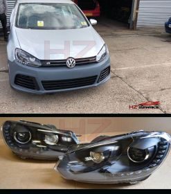 R20 LOOK XENON HEADLIGHTS FOR VW GOLF MK6 2009 2012