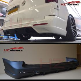 HZ REAR BUMPER WITH DIFFUSER FOR VW TRANSPORTER T5 2005 2014