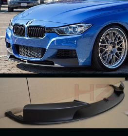 MATT BLACK FRONT LIP SPLITTER VALANCE FOR BMW 3 SERIES F30 F31 M SPORT SPOILER