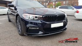 GLOSS BLACK PERFORMANCE FRONT LIP M SPORT FOR BMW 5 SERIES G30 G31 2017 2019