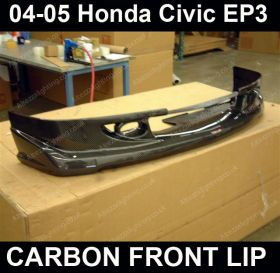 04-05 Honda Civic EP3 Carbon Fiber M Type Front Bumper Lip Splitter