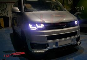 GLOSS BLACK BADGELESS GRILL FOR VW TRANSPORTER 2010 2015 FACELIFT