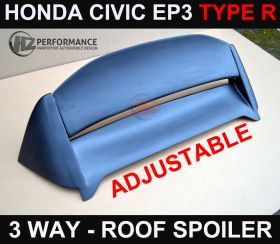 00-05 Honda Civic EP3 M Type Adjustable Roof Spoiler
