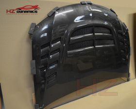 VTX LOOK CARBON FIBER BONNET FOR MITSUBISHI EVO 8 9