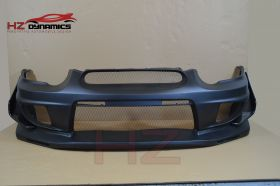03-05 Subaru Impreza VTX Type Front Bumper with carbon canards