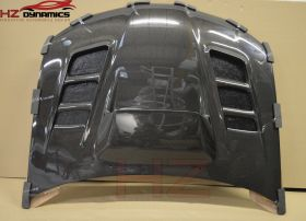 VAR LOOK CARBON FIBER VENTGED BONNET FOR 2006 2007 SUBARU IMPREZA HAWK EYE