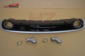 RS6 LOOK REAR DIFFUSER Inc EXHAUST TIPS FITS 2011 2015 + AUDI A6 4DR SALOON C7 SE UK