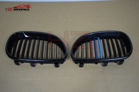 M Colour Kidney Grills FOR BMW 5 Series E60 2003 2010