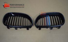 Gloss Black + Colour Kidney Grills FOR BMW E60 2003-2010 5 Series
