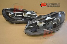 VW Golf MK6 GTi Xenon Type Headlights BLACK EDITION
