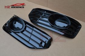 VW Transporter T5 2010-2015 Gloss Black Fog Grills