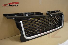GLOSS BLACK SILVER GRILL FIT RANGE ROVER SPORT 2005 2009 AUTOBIOGRAPHY