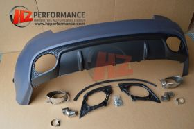2007 2012 Audi A5 RS5 Type Rear Bumper with Tips 2DR Coupe