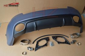 RS5 LOOK REAR BUMPER WITH TIPS 2DR CUPE FOR 2007 2012 AUDI A5 S5