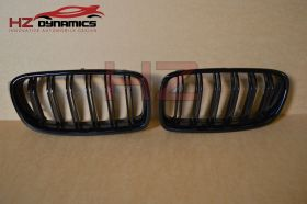 BMW F30 3 Series 2012 to 2015 Gloss Black Double Slat Kidney Grills