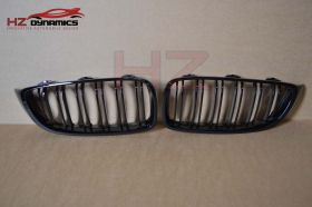 Gloss Black Kidney Grill Double Slat FIT BMW 4 Series F32 F33 F36 F82