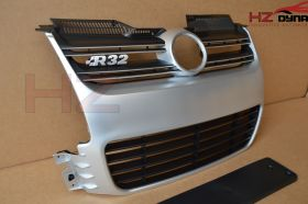 R32 Silver Style Front Grill FOR VW Golf MK5