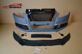 FRONT BUMPER WITH BADGELESS GRILL FOR AUDI A3 8P 2009 2012 RS3 LOOK FACELIFT