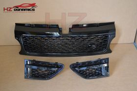 Gloss Black Grill Set FITS 2010 2012 Range Rover Sport