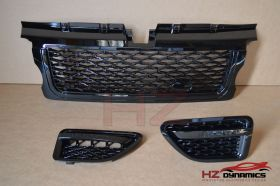 Gloss Black Grill Set FITS 2005 2009 Range Rover Sport