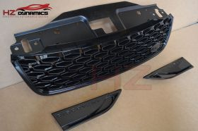 GLOSS BLACK DYNAMIC FRONT GRILL FOR 2017 LAND ROVER DISCOVERY 5 + SIDE VENTS