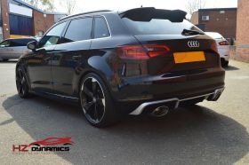 RS3 LOOK REAR DIFFUSER FOR 2012 2015 AUDI A3 8V 5DR SPORTBACK