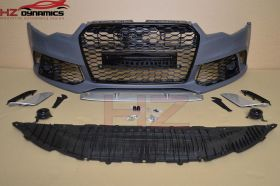 FRONT BUMPER FOR AUDI A6 S6 2011 2015 C7 4G + LARGE GRILL RS6 LOOK