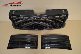 GLOSS BLACK EDITION SVO LOOK GRILL SET FOR RANGE ROVER VOGUE L405 2013 2017