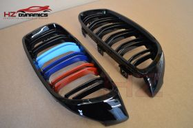 DOUBLE SLAT M COLOUR KIDNEY GRILL FOR BMW 4 SERIES F32 F33 F36 F82