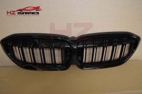 Double Slat Gloss Black Kidney Grill FOR BMW G20 3 SERIES 2019