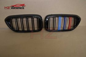 DOUBLE SLAT M COLOUR KIDNEY GRILL GRILLE BMW 5 SERIES G30 G31 2017 2018