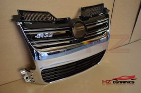 CHROME FRONT GRILL FOR VW GOLF MK5 2005 2008 R32 LOOK