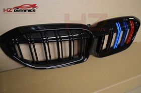 DOUBLE SLAT M COLOUR KIDNEY GRILL FOR BMW G20 3 SERIES 2019