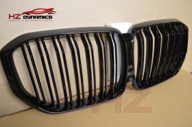 GLOSS BLACK DOUBLE SLAT KIDNEY GRILL GRILLS FOR BMW X5 G05 2019 ONWARDS