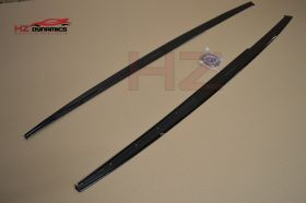 GLOSS BLACK PERFORMANCE SIDE SKIRT EXTENSION BLADES FOR BMW 3 SERIES F30 F31 PP