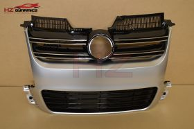 SILVER FRONT GRILL FOR VW GOLF MK5 2005 2008 R32 LOOK