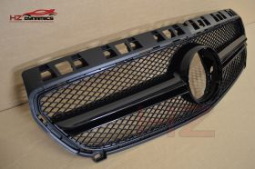 GLOSS BLACK EDITION GRILL FOR MERCEDES A CLASS W176 2012 2015 GRILLE PREFACELIFT