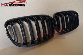 BMW F20 F21 2011-2014 1 Series M Tech Gloss Black Double Slat Kidney Grills