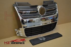 R32 Look Chrome Front Grill FOR VW Golf MK5 2005 2008