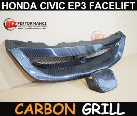 2004 2005 Honda Civic EP3 3DR Carbon M Type Front Grill FACELIFT