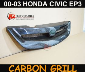 00-03 Honda Civic 3DR EP M Type Carbon Grill
