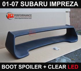 01-07 Subaru Impreza Boot Spoiler + LED Brake Light