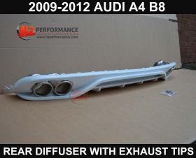 09-12 Audi A4 B8 Rear Diffuser with Exhaust Tips