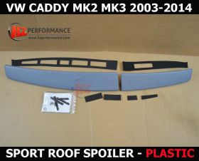 VW Caddy MK2 MK3 PLASTIC Barn Door Roof Spoiler