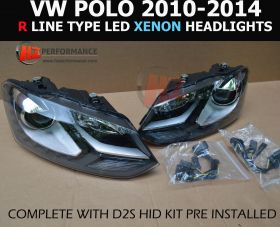 2010-2014 VW Polo 6R LED Projector Xenon Headlights